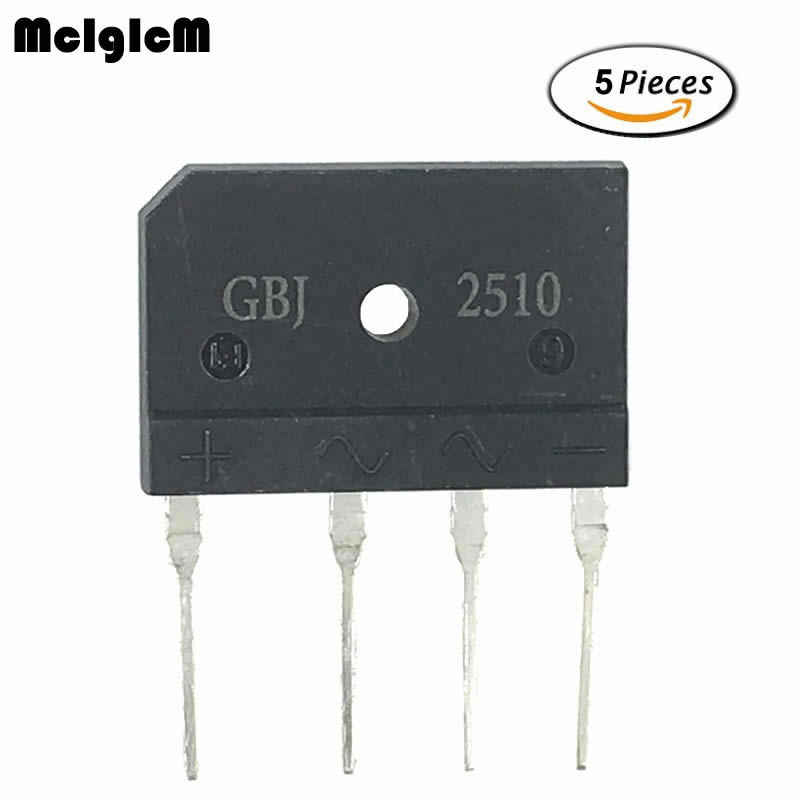 MCIGICM 5PCS 25A 1000V diode bridge rectifier gbj2510