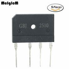 MCIGICM 5 uds. 25A 1000V Puente rectificador de diodo gbj2510