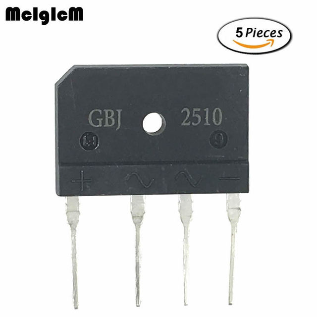 Диодный мостовой выпрямитель MCIGICM gbj2510, 5 шт., 25 А, 1000 в
