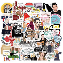 52pcs Pack TV Show Schitt's Creek Stickers Waterproof Pegatina For Skateboard Guitar Laptop Luggage Funny Cartoon Decal Stickers