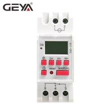 Free Shipping GEYA THC-20A Programmable Timer with Battery 7 Day Time Switch 20A DC Timers 12V 24V110V 220V 240V