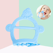 New Teething Glove Silicone Baby Nursing Teether Pacifier Newborn Dental Care Durable Child Sucking Fingers Thumb Teether(China)