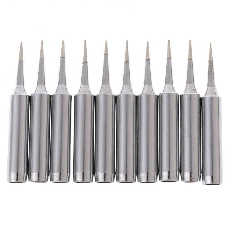 10 Pcs Lead Free Replacement Soldering Solder Iron Tips 900M-T-I For Hakko Saike 936 852d+ 909D 6XDD