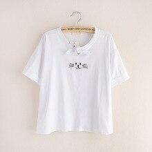 2019 New fashion Print Cotton Summer T shirt Women Casual Short Sleeve