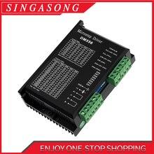 Driver dm556 para motor de passo digital bifásico, controlador do motor de passo nema23 para 57 86