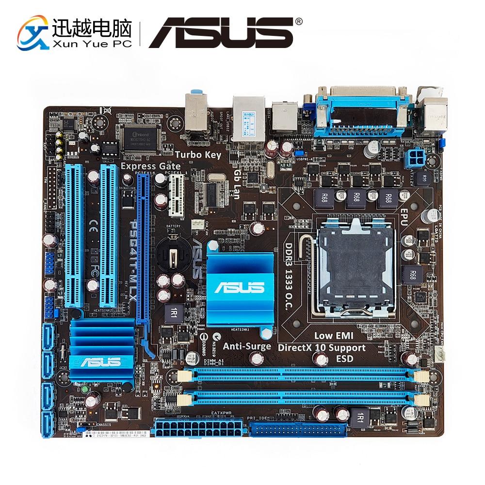 Asus P5G41T-M LX Desktop Motherboard G41 Soquete LGA 775 Para Core Duo 2 DDR3 uATX 8G SATA2 VGA Originais usado Mainboard
