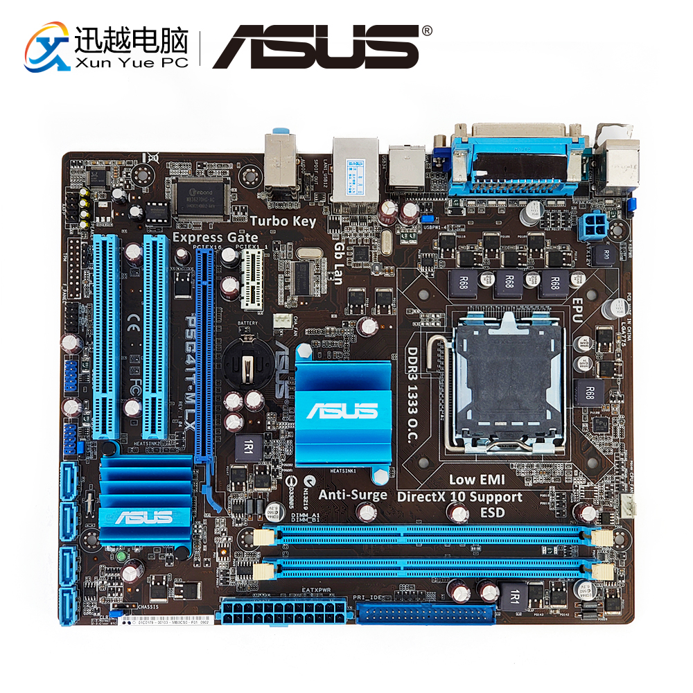 Asus P5G41T-M LX Desktop Moederbord G41 Socket LGA 775 Voor Core 2 Duo DDR3 8G SATA2 VGA uATX Originele gebruikt Moederbord