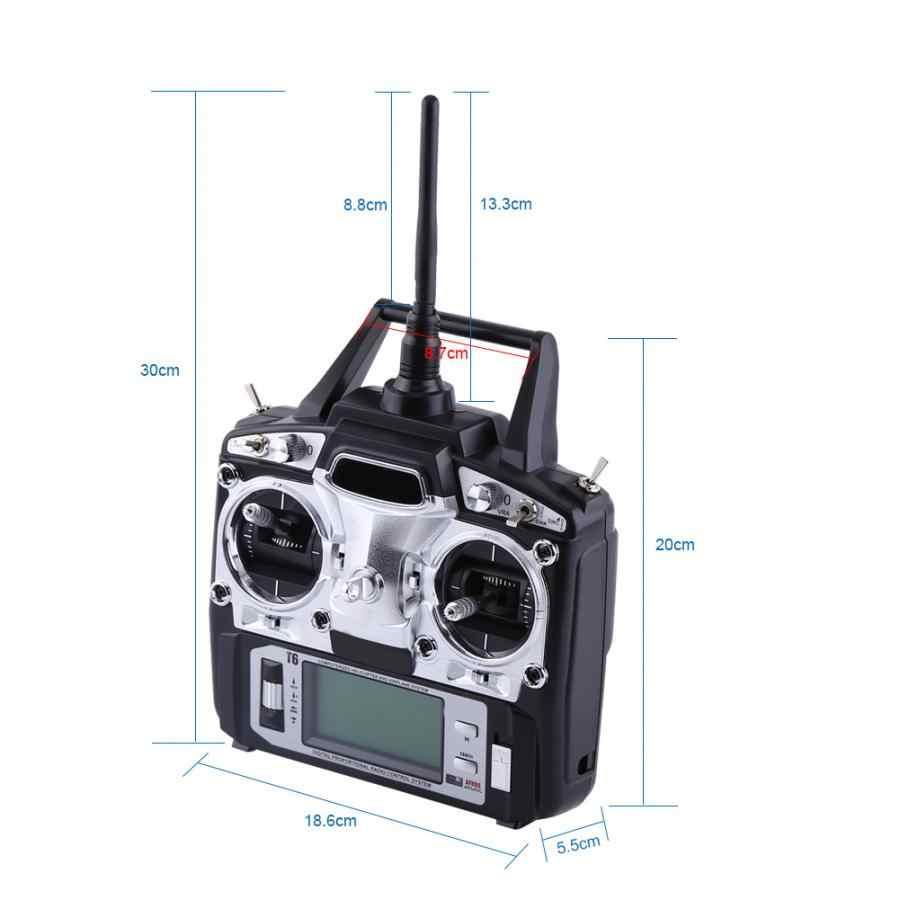 FS-T6 6 canales Radio Control remoto transmisor 2,4G para accesorio de coche RC