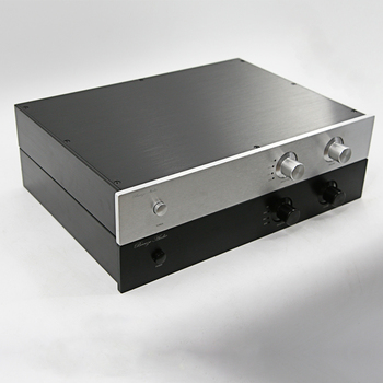 Full aluminum  preamplifier chassis audio enclosure HIFI AMP box dac case 430*70*308mm with 4 ways RCA holes