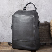 Повседневный светильник рюкзак из натуральной кожи для мужчин