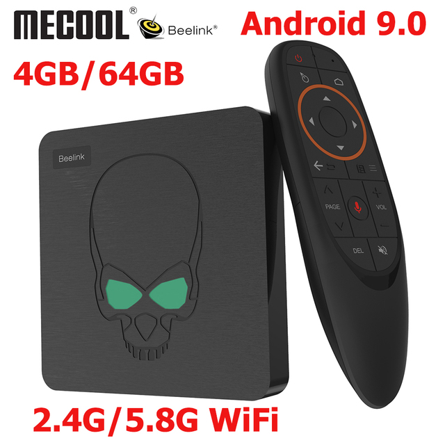 Beelink GT-rey Android 9,0 TV BOX Amlogic S922X GT 4 rey G DDR4 64G EMMC Dispositivo de TV inteligente 2,4G/5G Dual WIFI 1000M LAN 4K de la consola