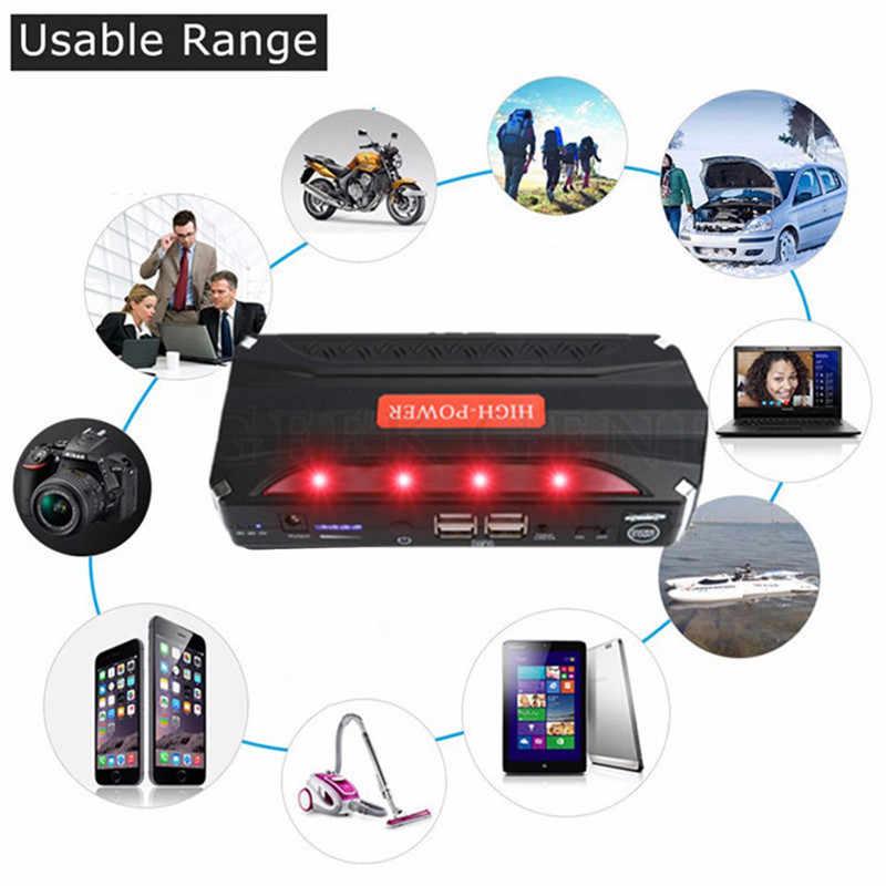 Gkfly Bensin Diesel Mulai Perangkat 12V 600A Mobil Melompat Starte 4USB Power Bank Baterai Charger Mobil Booster Mobil Starter lampu LED