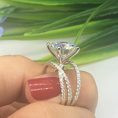 Горячая Распродажа, дизайн, роскошное большое овальное CZ кольцо золотого цвета, обручальное кольцо, хорошее ювелирное изделие для женщин, ювелирных изделий - Цвет основного камня: 13