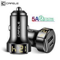 Cafele 36 w carga rápida 4.0 carregador de carro usb para iphone xiaomi huawei samsung qc4.0 qc3.0 tipo usb c pd carregador rápido telefone do carro