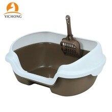 Bedpan Litter-Basin Pet-Toilet Scoop Pet-Cleaning-Products Anti-Splash Cat Plastic Semi-Enclosed