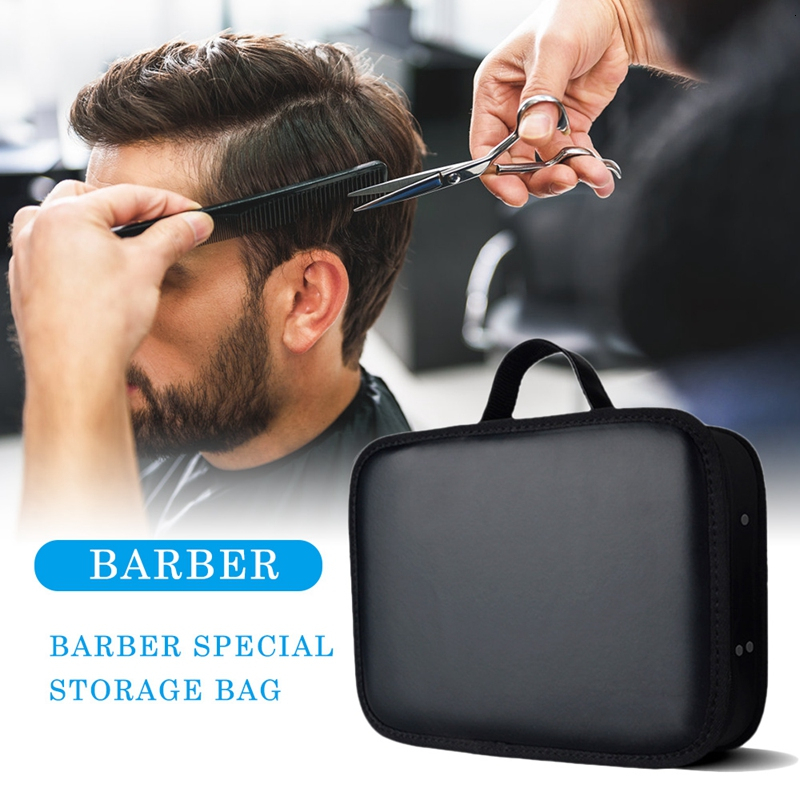 PVC Waterproof Hair Stylist Tool Storage Bag Commercial Large Capacity Business Hairdressing Tool Storage Box Bags For Barber