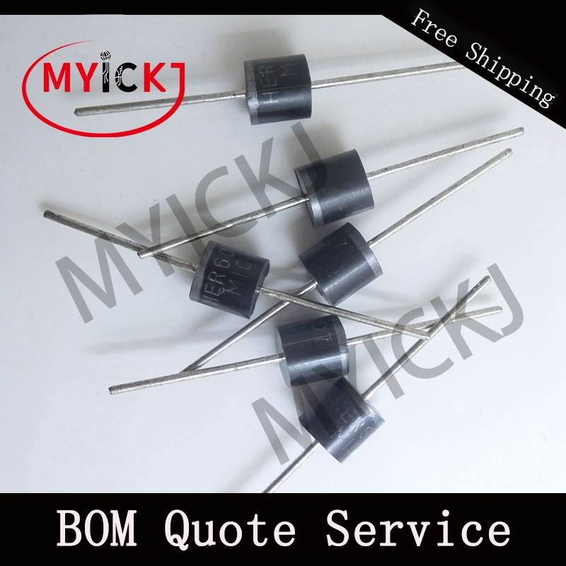 20PCS <font><b>HER607</b></font> Rectifier Diode 6.0A HIGH EFFICIENCY RECTIFIER IC CHIP image