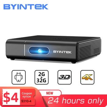 BYINTEK Brand U30 Full HD 1080P 2K 3D 4K Android Smart Wifi Portable lAsEr Home Theater LED DLP Mini Projector Proyector Beamer