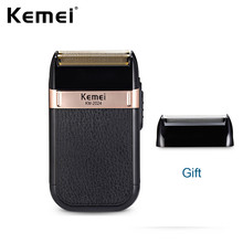 цена на Kemei Electric Shaver Twin Blade Reciprocating Cordless Razor Hair Beard Shaving Machine Barber Trimmer USB Rechargeable