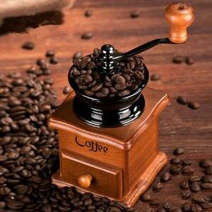 Image 3 - Moulin à café, poivre et épices à main en métal, à manivelle manuelle Vintage, 2020