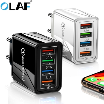 цена на Olaf EU/US Plug USB Charger Quick Charge 3.0 4.0 For Phone Adapter for Huawei Tablet Wall Mobile Charger Fast Charger Adapter