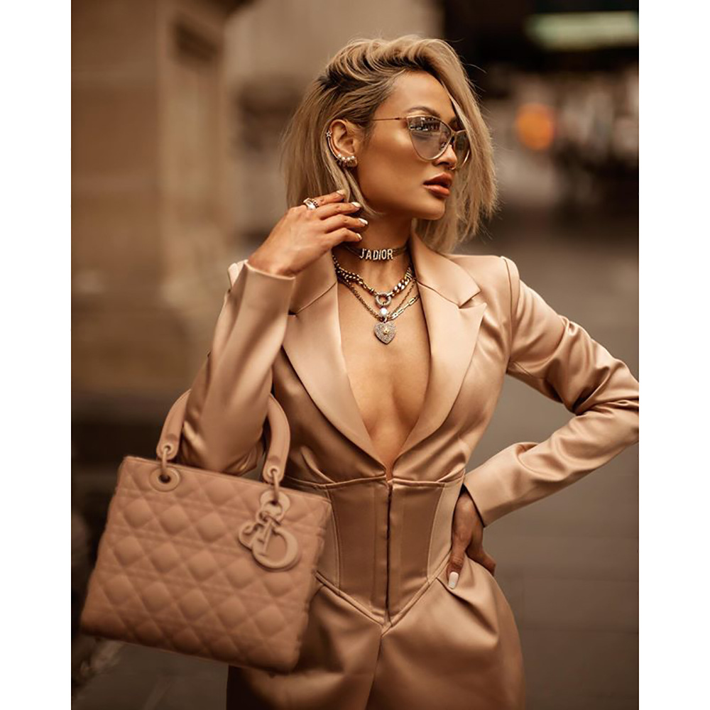 2020 Early Autumn Solid Color V-neck Waist Buckle Dark Long-sleeve Irregular Self-cultivation Parka ropa mujer