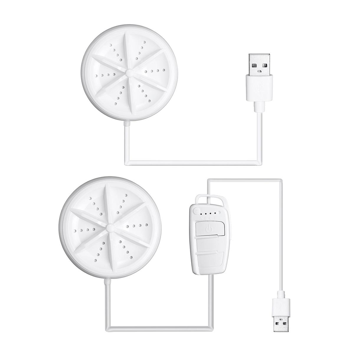 6W 10V Mini Ultrasonic Turbo Washing Machine Portable Personal Rotating Washer Convenient For Travel Home Business Trip USB