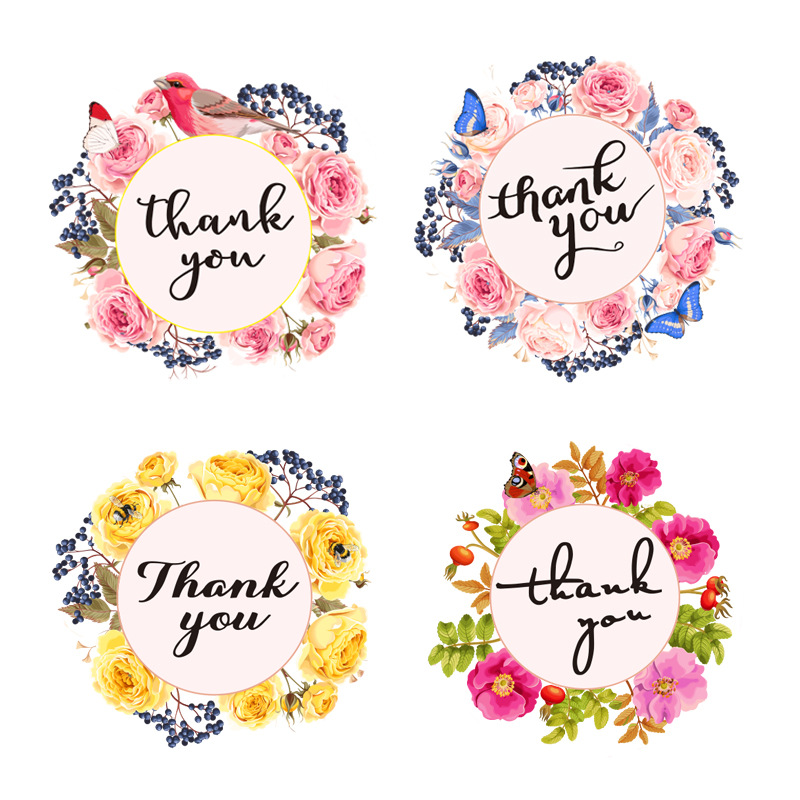500pcs/roll Thank You Stickers for Seal Labels 1 Inch Gift Packaging Stickers Birthday Party Offer Stationery Sticker 3