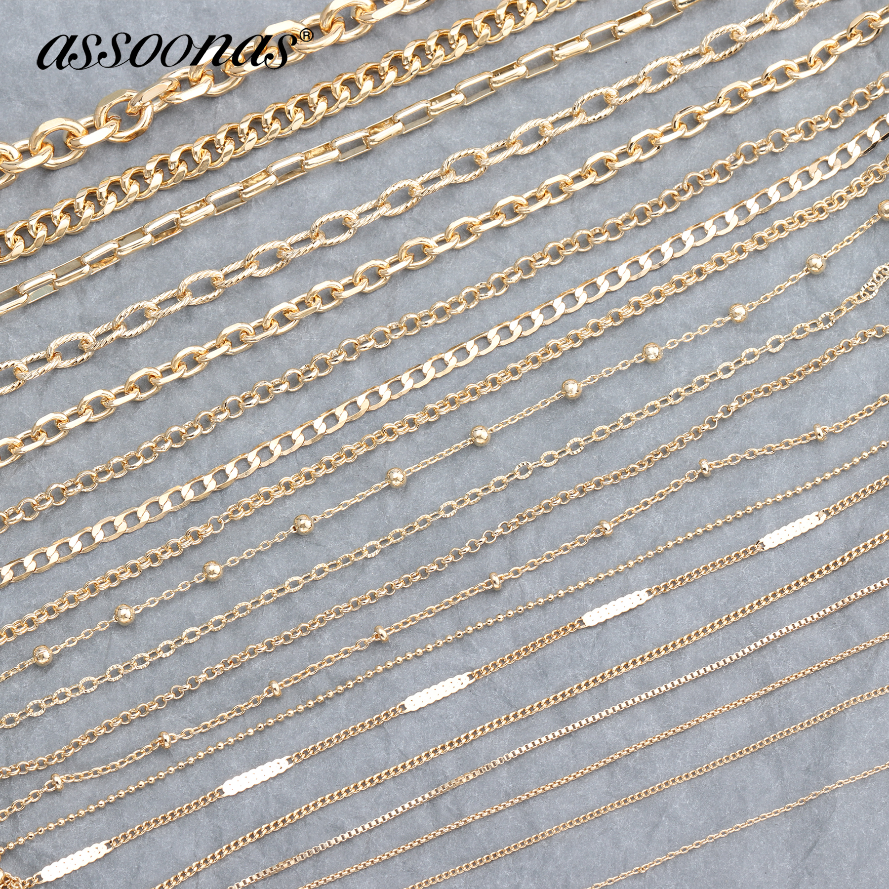 Assoonas C65,18K Gold Chain,diy Chain,jewelry Accessories,hand Made,jewelry Making,jewelry Findings,bracelet Necklace,3m/lot