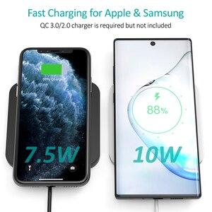 Image 3 - CHOETECH Wireless Pad Caricabatterie Per Il Samsung S10 S9 S8 Nota 10 9 10W Veloce Wireless Pad di Ricarica per iPhone 11 Xs Max Xr X 8 8 Più