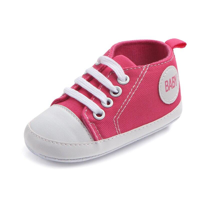 Chaussures bébé Garçon Fille Solide Sneaker Coton Doux Semelle Antidérapante Nouveau-Né Infantile Premiers Marcheurs Bambin décontracté Sport Chaussures de Berceau 45