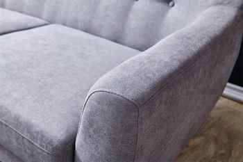 Contemporary Modern Sofa Fabric 67 - gray Furniture Living Room Polyeser Fabric Sofa only can ship to usa