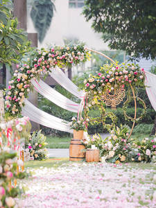 Wedding-Props Backdrop-Decor Shelf Flower-Stand Round Birthday Artificial Ring for Party