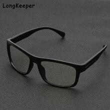 Computer Glasses Square-Frame Blue Light Eye-Protection Women UV400 Longkeeper Vinateg