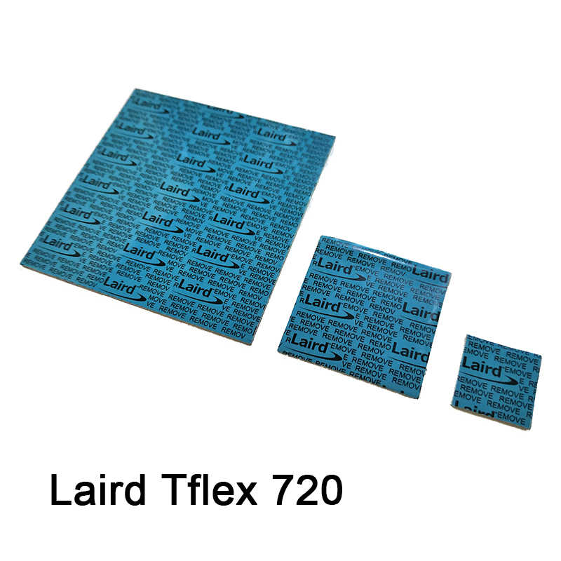 ซิลิคอน GPU THERMAL PAD สำหรับ LAIRD T-FLEX 720 700 SERIES GAP FILLER VGA GPU THERMAL PAD COOLING 15X15 30x30 60x60x0.5