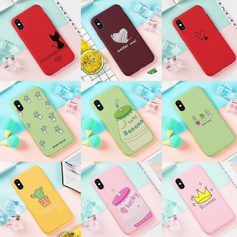 Fashion Couple Phone Case For iPhone 6 6s Plus 7 8 Matte Silicone Soft TPU Cover For iPhone XS Max XR X 10 6S Plus 5 5s SE Shell
