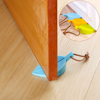 Leaves Shape Door Stop Baby Safety Silicone Door Stopper Door Stop Guards Safe Protector Anti-pinch Hand Child Safety Security baby finger protector silicone stop door stopper lock pinch guard kids safety kids protector