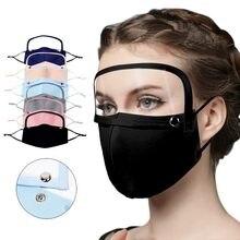 Visor de Cara de adultos a prueba de polvo Anti-vaho reutilizable Cara proteger Sheild desmontable con protector de ojos Pantalla Protectora Cara # M
