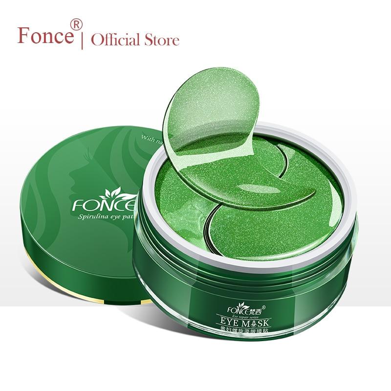 Fonce Korean Collagen Seaweed Crystal Eye Patches 60 Piece Reduce Dark Circles Gel Eye Care Sleep Masks Anti Age Bag Eye Wrinkle