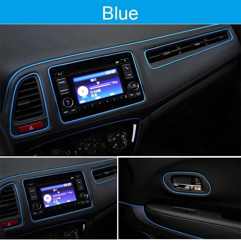 Universal Car Moulding Decoration Flexible Strips 5M/3M/1M Interior Auto Mouldings Car Cover Trim Dashboard Door Car-styling 3