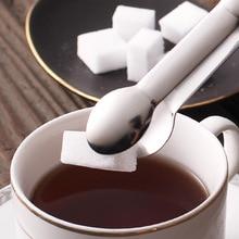Coffee utensils sugar clip 304 stainless steel small ice coffee cube kitchen milk tea shop accessories