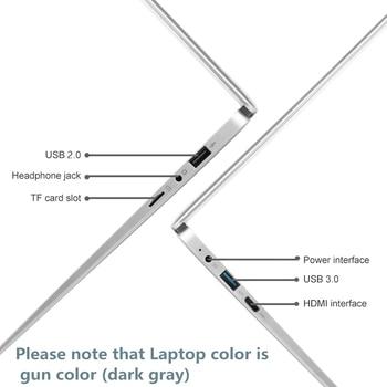 13.3 inch Intel Cheap Student Laptop Notebook 6G RAM 128GB 256GB 512GB 1TB SSD Laptop Windows 10 Intel Wifi Computer 1920x1080p 3