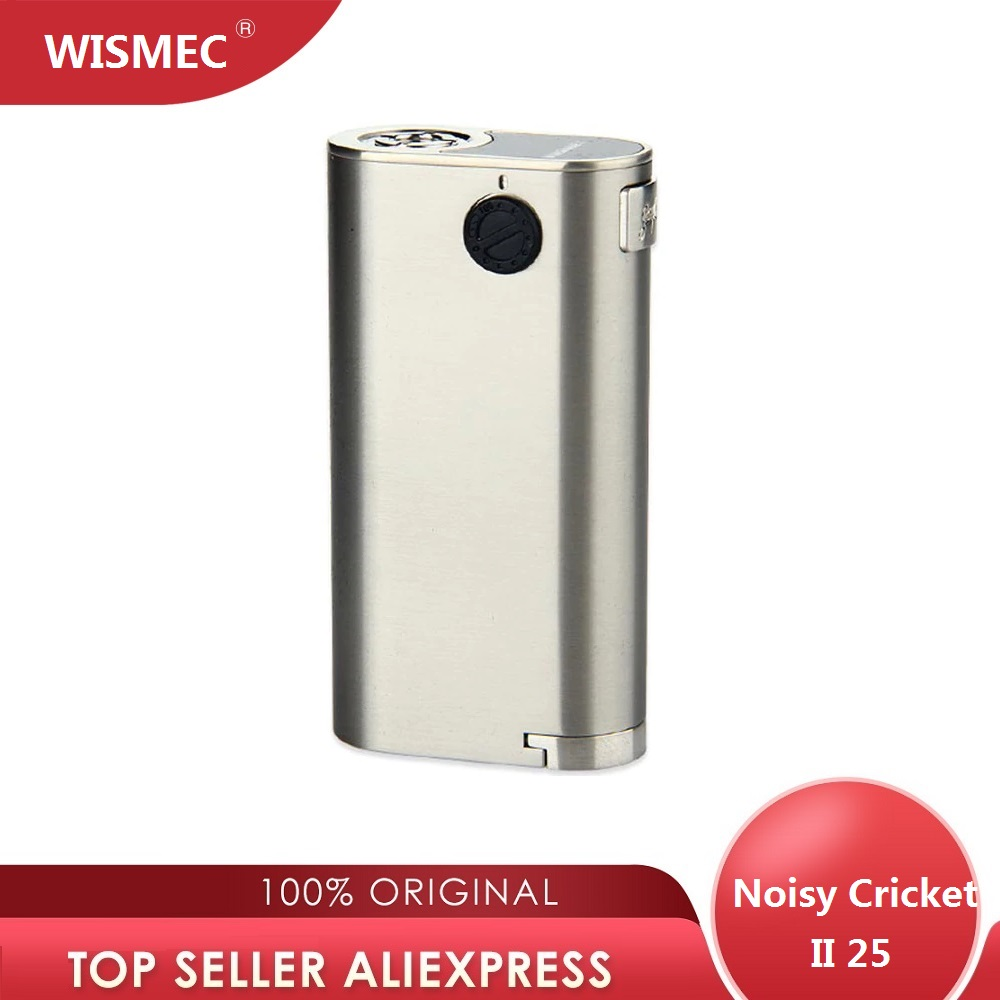 WISMEC Noisy Cricket II 25 Box MOD Vape RDA  Noisy Cricket 2 Mod Electronic Cigarette No 18650 Battery Box Mod Vape Mod Vs DRAG