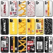 DHL Hot Express 50th Anniversary Edition Rótulo Case Para iPhone 5 11 Pro X XS Max XR 5S SE 2020 7 6 6S 8 Além Disso TPU Tampa Traseira Capa