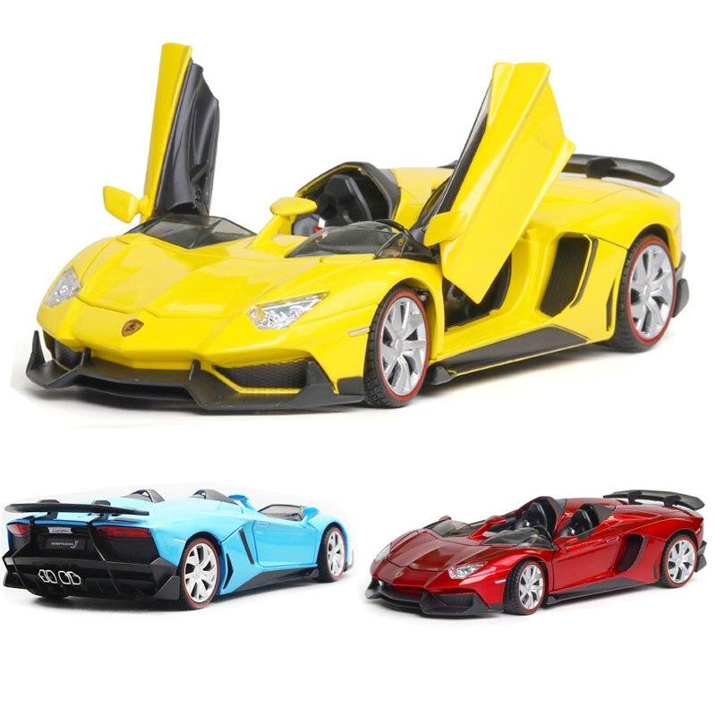 1:24 Lamborghini-AVENTADOR J Car Model Alloy Car Die Casting Car Toy Car Children's Toy Collectibles Free Shipping