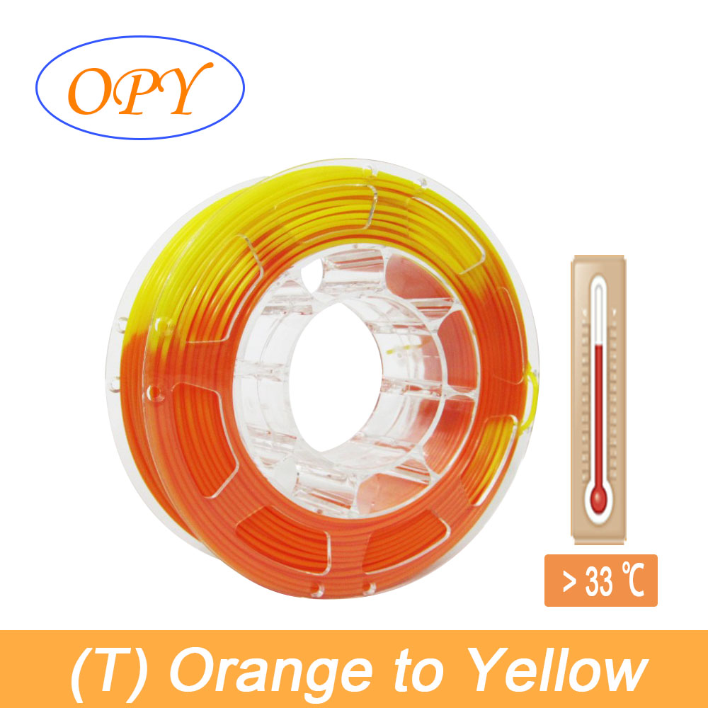 3D Temperature Color Change Filament Gradient Thermochromic 3 Color Grey Orange Yellow Red Green Blue Thermosensitive(China)