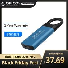 ORICO 미니 외장 SSD M2 NVME 하드 드라이브 1 테라바이트 128GB 512GB M.2 NVME 휴대용 SSD USB C 유형 C 940 메가바이트/초 솔리드 스테이트 드라이브 GV100