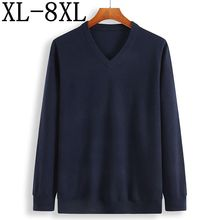 2019 새로운 겨울 캐시미어 스웨터 남자 느슨한 남성 pullovers v 목 남성 knittwear 남자의 크리스마스 스웨터 플러스 크기 6xl 7xl 8xl