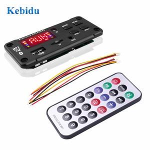 Image 2 - KEBIDU placa decodificadora de MP3, 5V, 12V, reproductor de MP3 WMA con Control remoto, fuente de alimentación USB, Radio FM TF, reproductor MP3 para altavoz de coche
