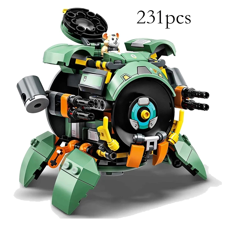 Wrecking Ball Building Blocks 227Pcs Hamster Figures Overwatching 75976 Compatible Led Bricks Toys for Children Christmas Gifts 2